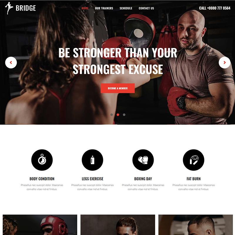Bridge - Tema WordPress para artes marciales