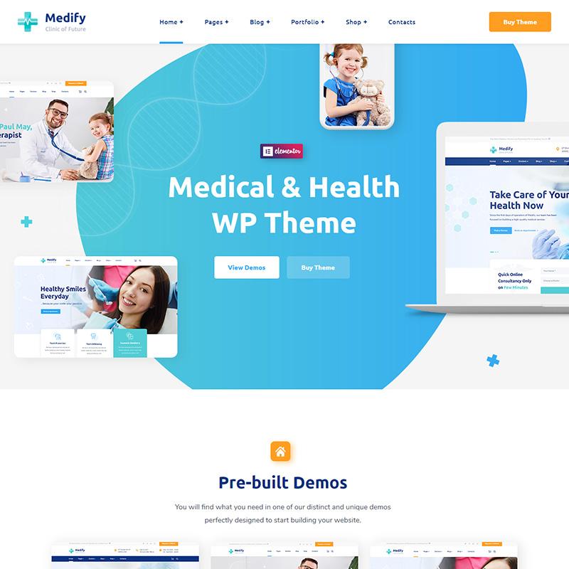 Medify - Plantilla WordPress para Clínicas