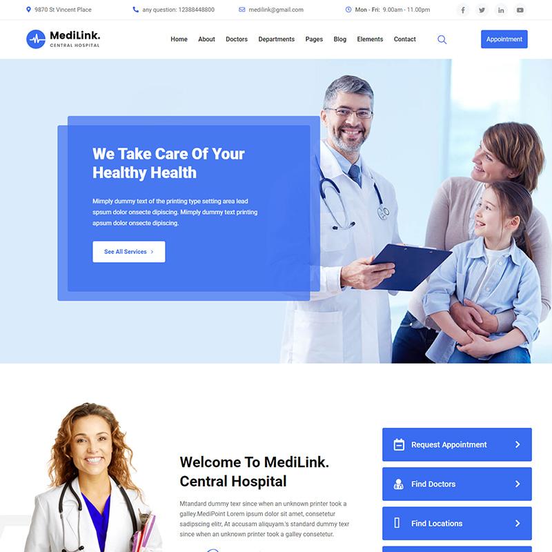 Medilink - Tema WordPress para Medicina y Salud bucal