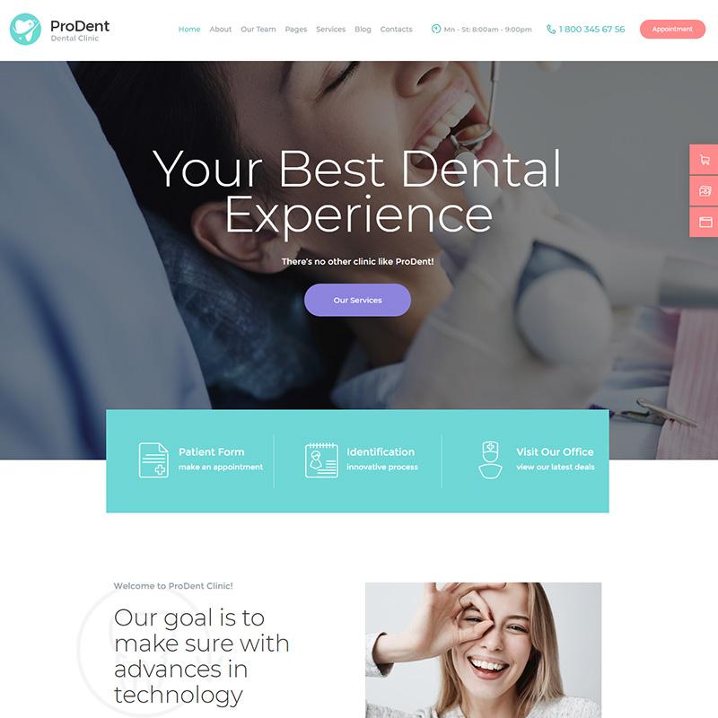 ProDent - Plantilla WordPress Dentistas y Salud