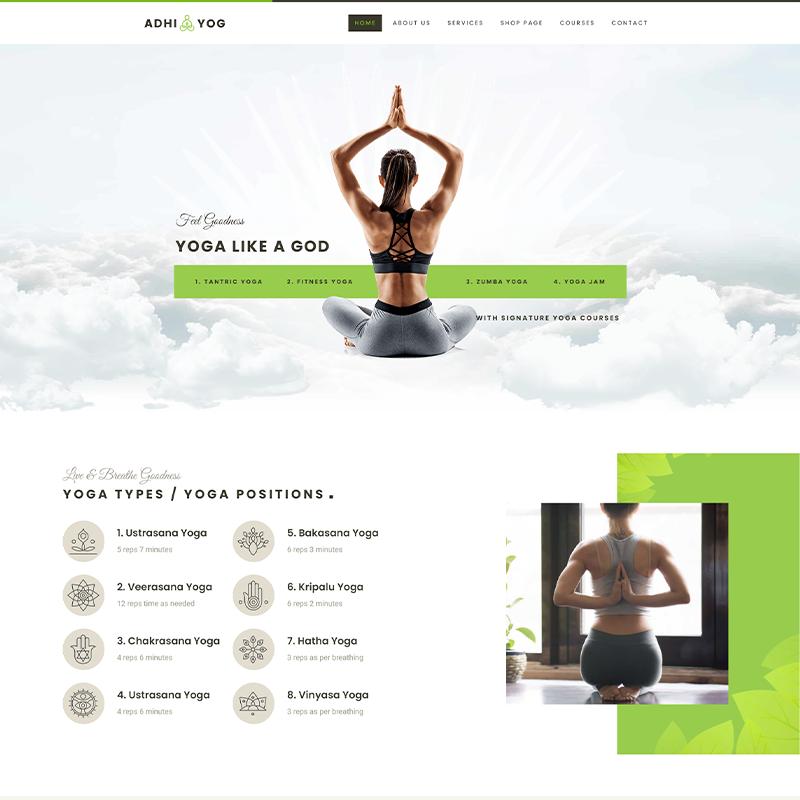 Adhi Yoga Plantilla WordPress
