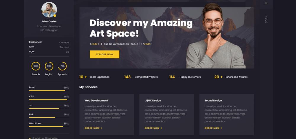 Arter - Tema WordPress Curriculums