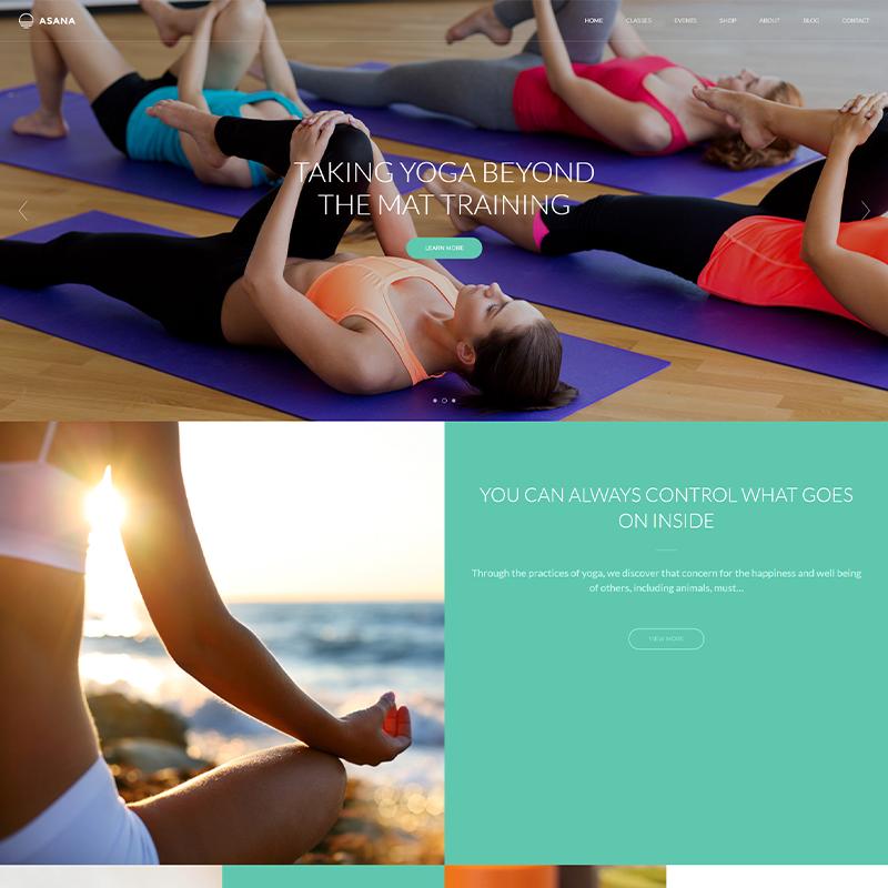 Plantilla de Yoga WordPress Asana