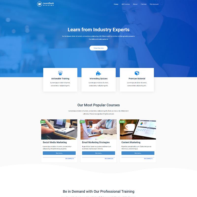 LearnDash Plantilla WordPress Astra Pro