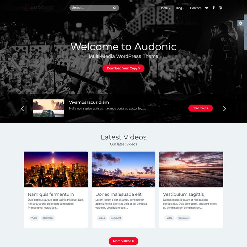 Plantilla Audionic WordPress podcats