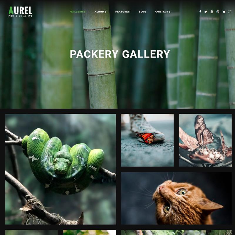 Aurel - plantilla WordPress para fotógrafos de animales