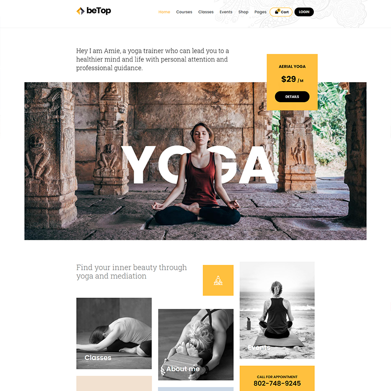 BeTop Tema WordPress Yoga