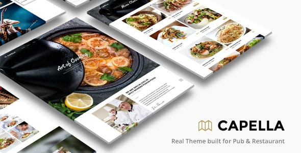 Capella - Tema WordPress para restaurantes y pubs