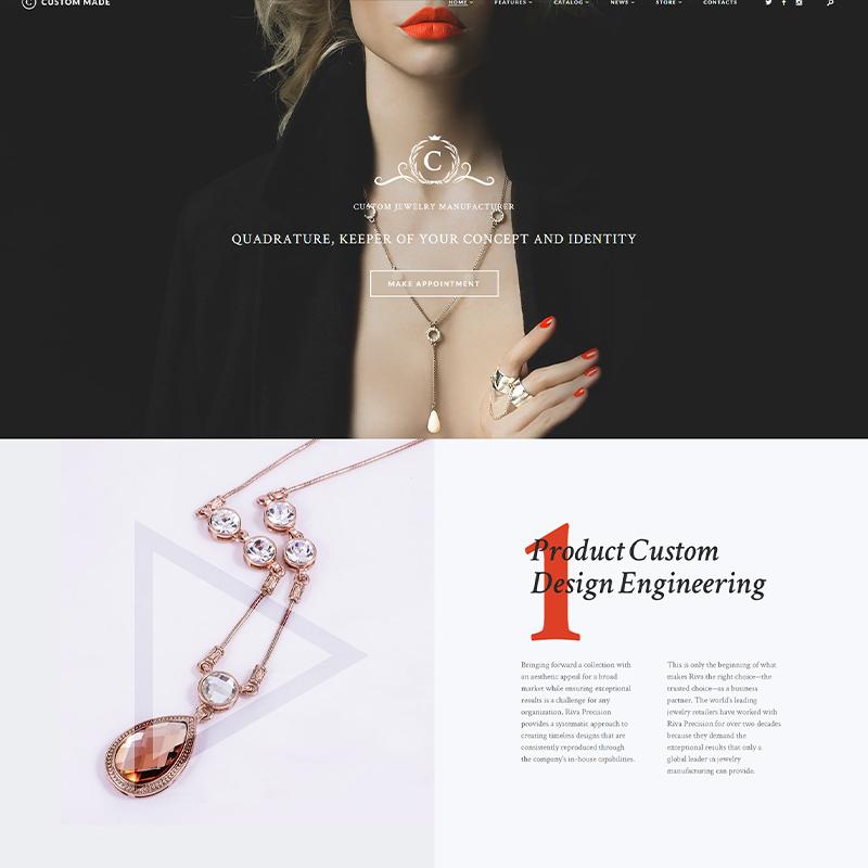 Plantilla WordPress Joyerías de Lujo | Custom Made