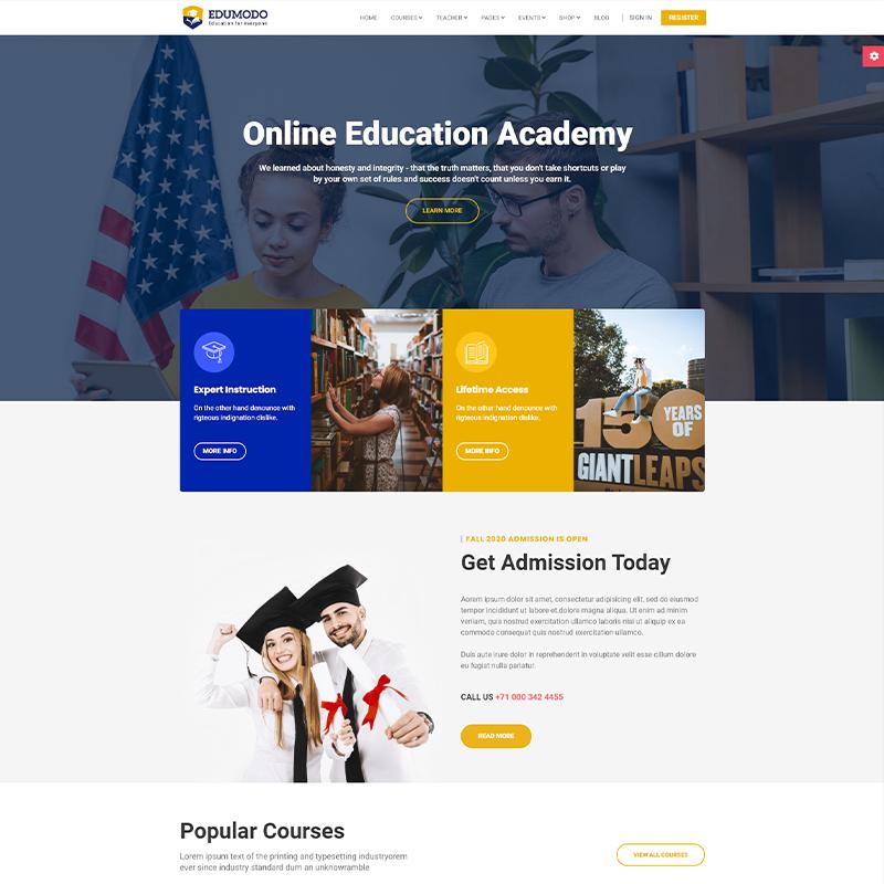 Edumodo | Plantilla LearnDash para WordPress