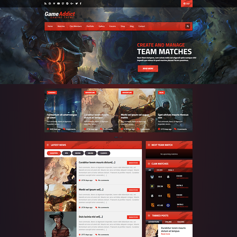 Game Addict Tema WordPress Gaming