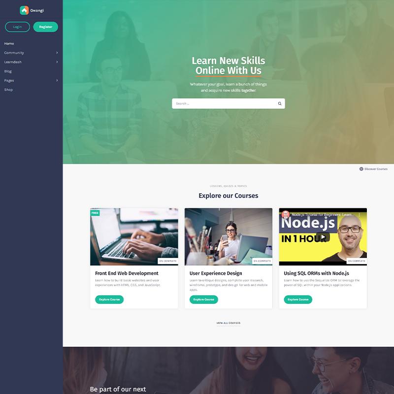 Gwangi | Plantilla WordPress LearnDash