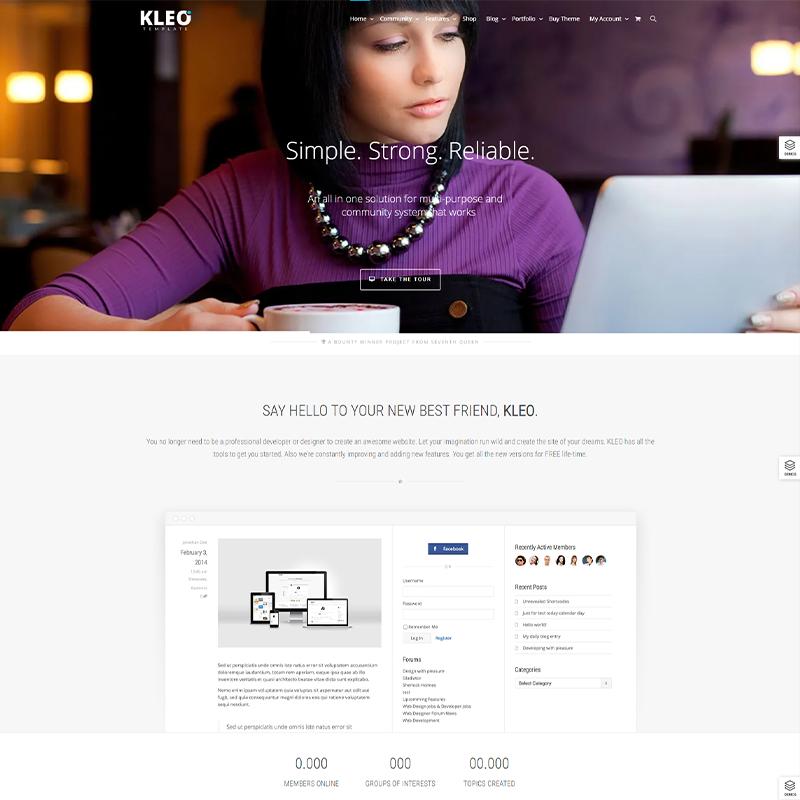 KLEO | Mejor Tema WordPress de BuddyPress