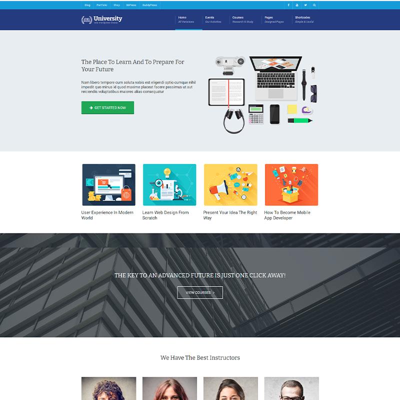 LearnDash Plantilla WordPress - University