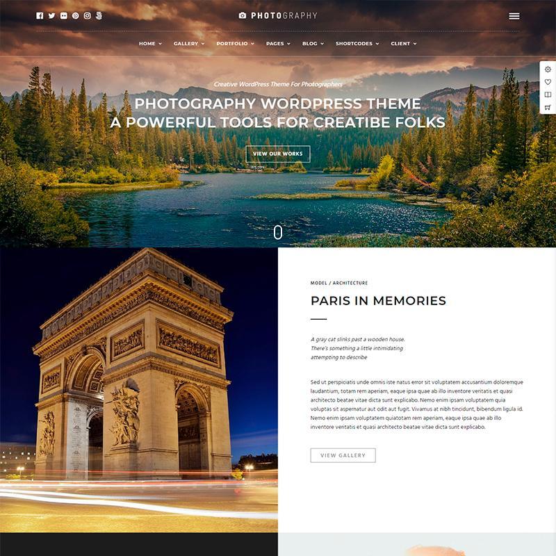 Photography, tema WordPress para páginas webs de fotografía