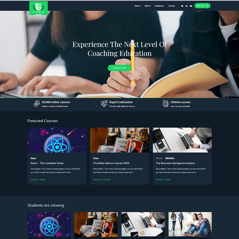 Picwik | Tema WordPress de LearnDash