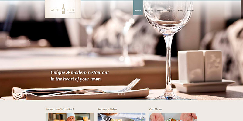 White Rock - Tema WordPress para Bodegas de Vino y Restaurantes