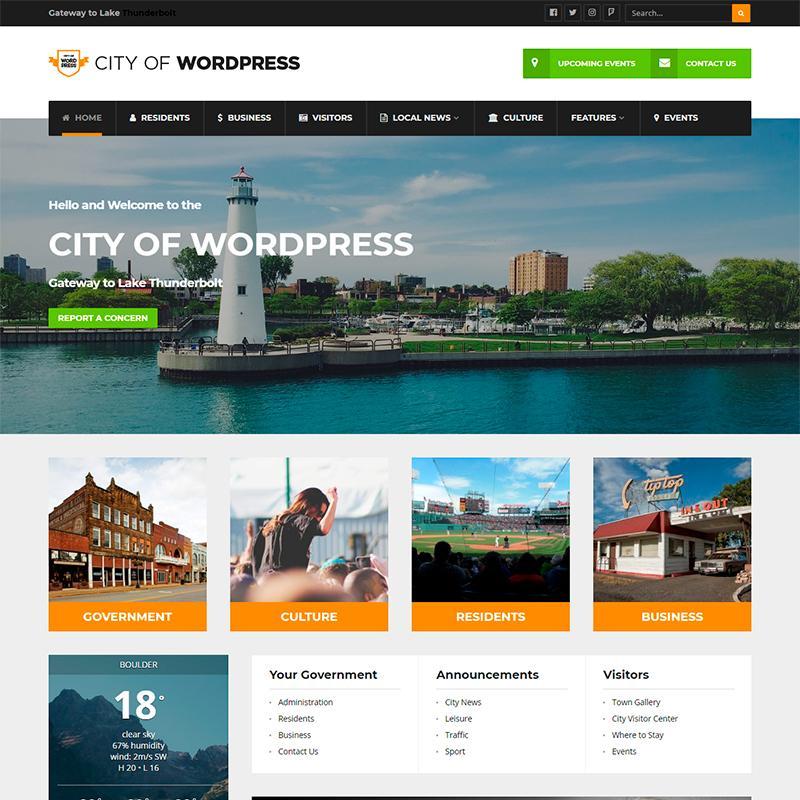 plantilla para Ayuntamientos City of WordPress