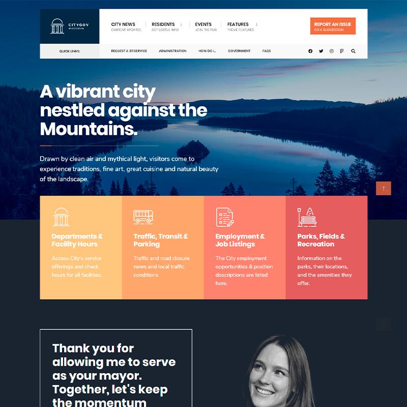 tema WordPress CityGov para municipios y ayuntamientos