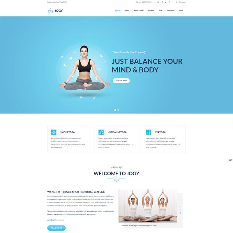 Plantilla WordPress Yoga - Jogy