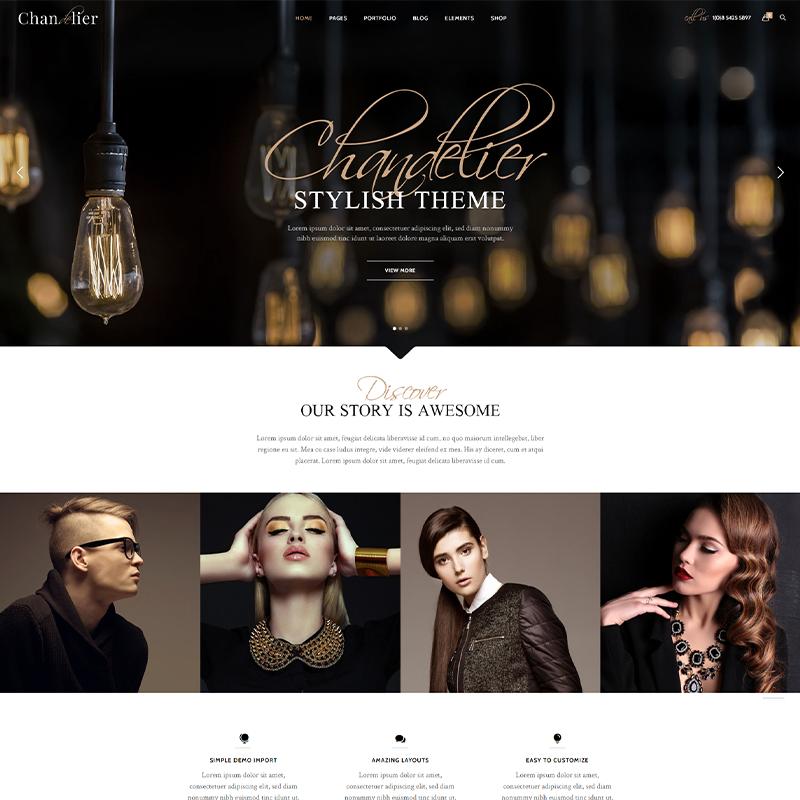 Tema WordPress E-Commerce de Joyerías | Chandelier