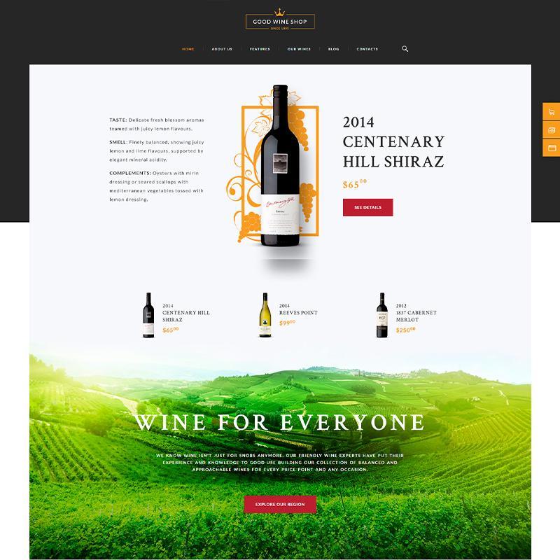 tema wordpress para blogs de vino