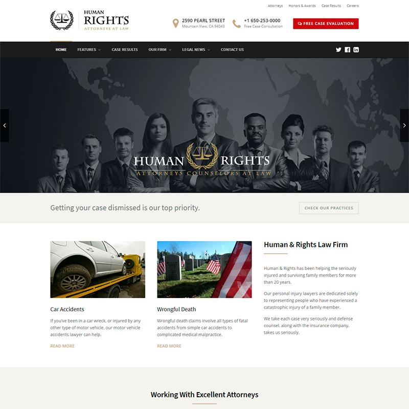 tema WordPress abogados y firmas de consultoría
