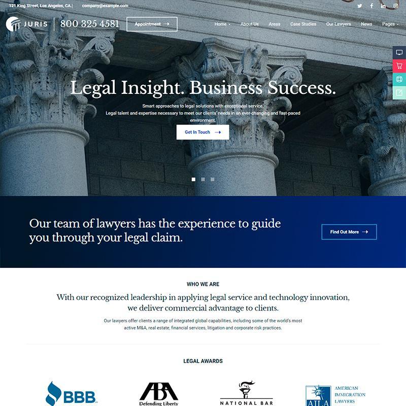 Juris - Plantilla WordPress para abogados y asesorías jurídicas