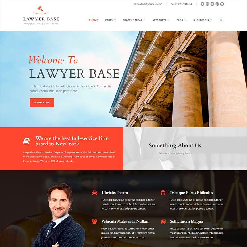 Lawyer Base - Plantilla WordPress para asesorías jurídicas y abogados