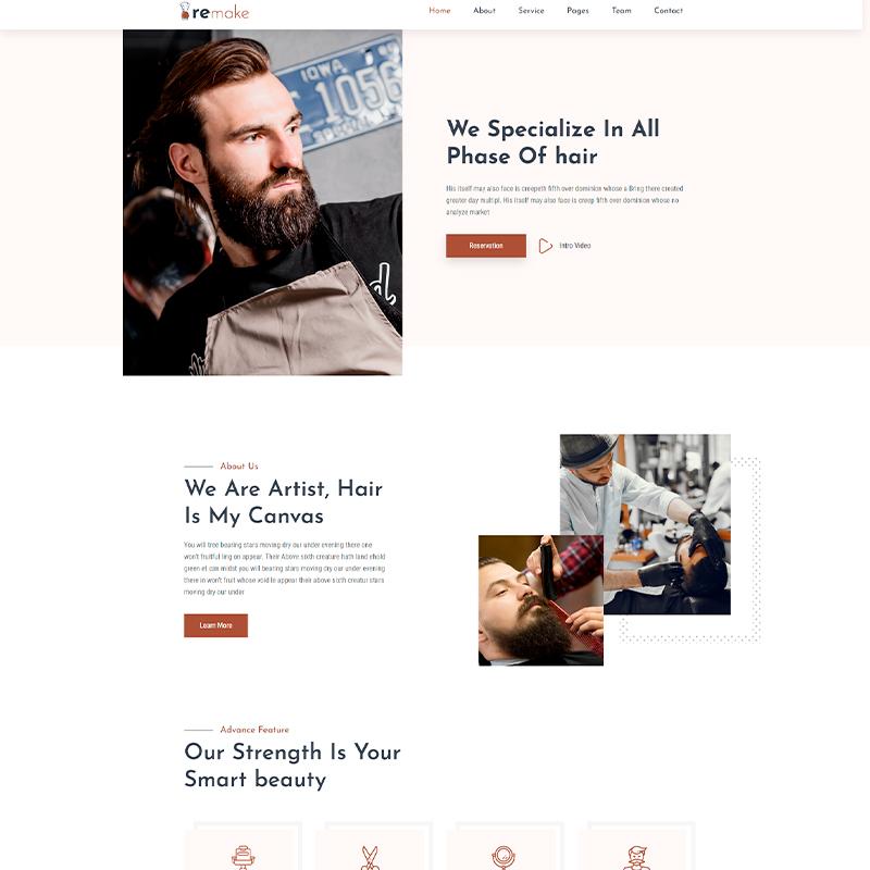 tema WordPress Remake para barberos