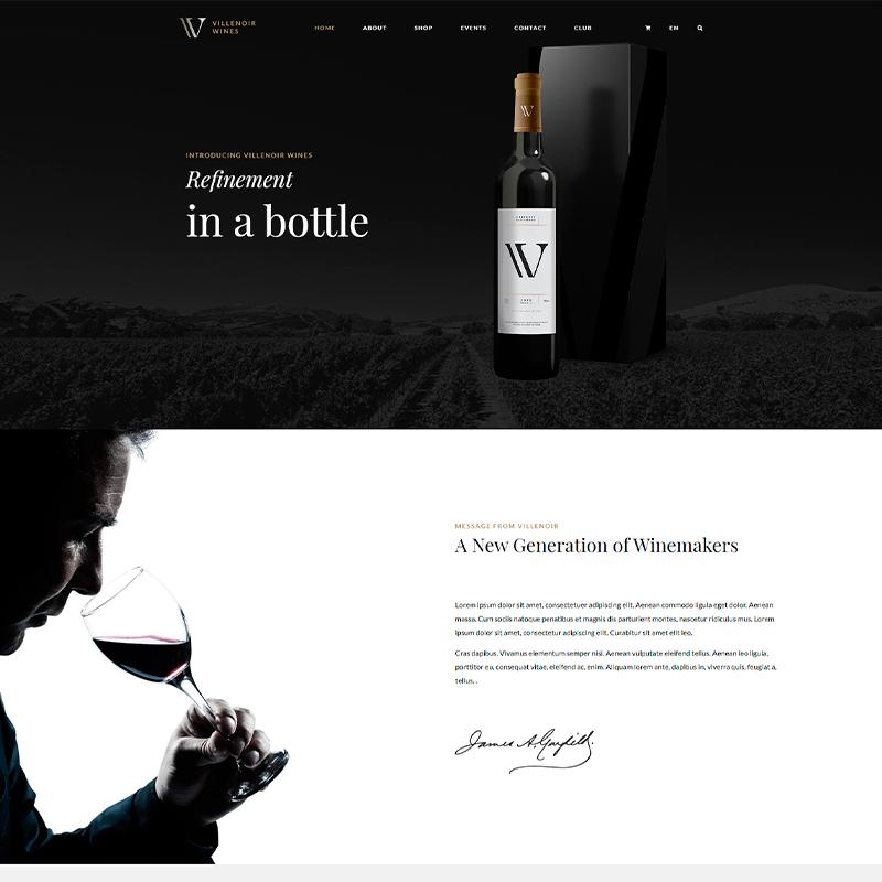 plantilla wordpress tiendas online de vino