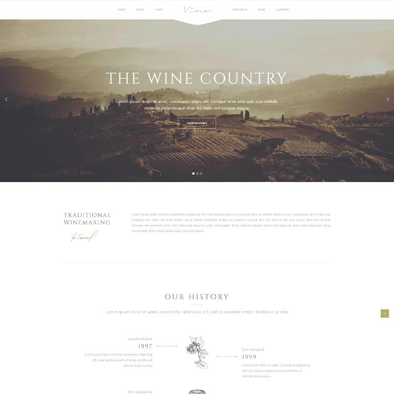 plantilla wordpress para bodegas de vino premium