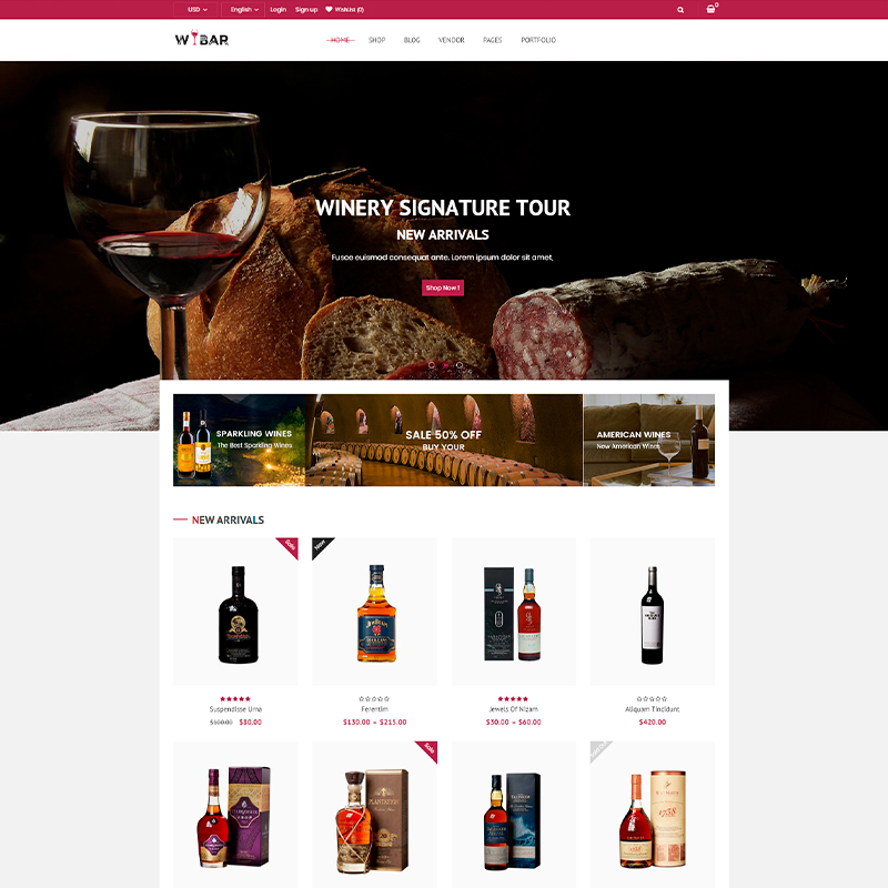 tema wordpress para viñedos y bodegas online
