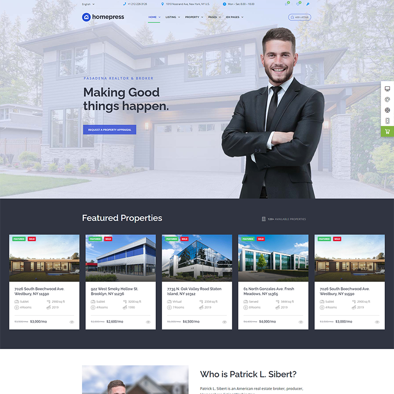 Plantilla Comerciales Inmobiliarios Independientes WordPress | HomePress