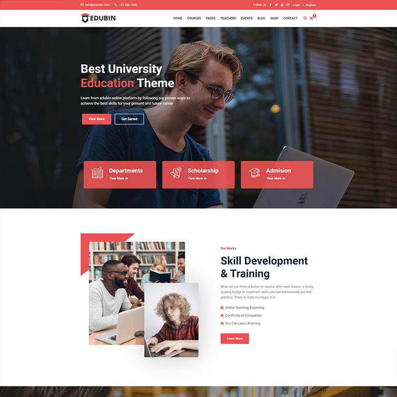 Plantilla Edubin WordPress LearnDash
