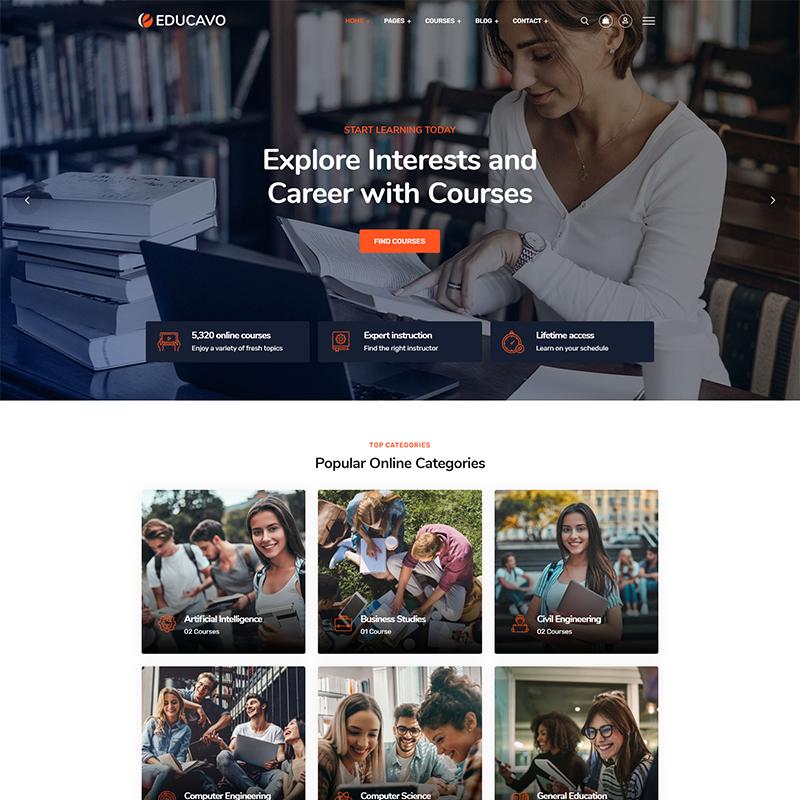 Educavo | Plantilla LearnDash WordPress