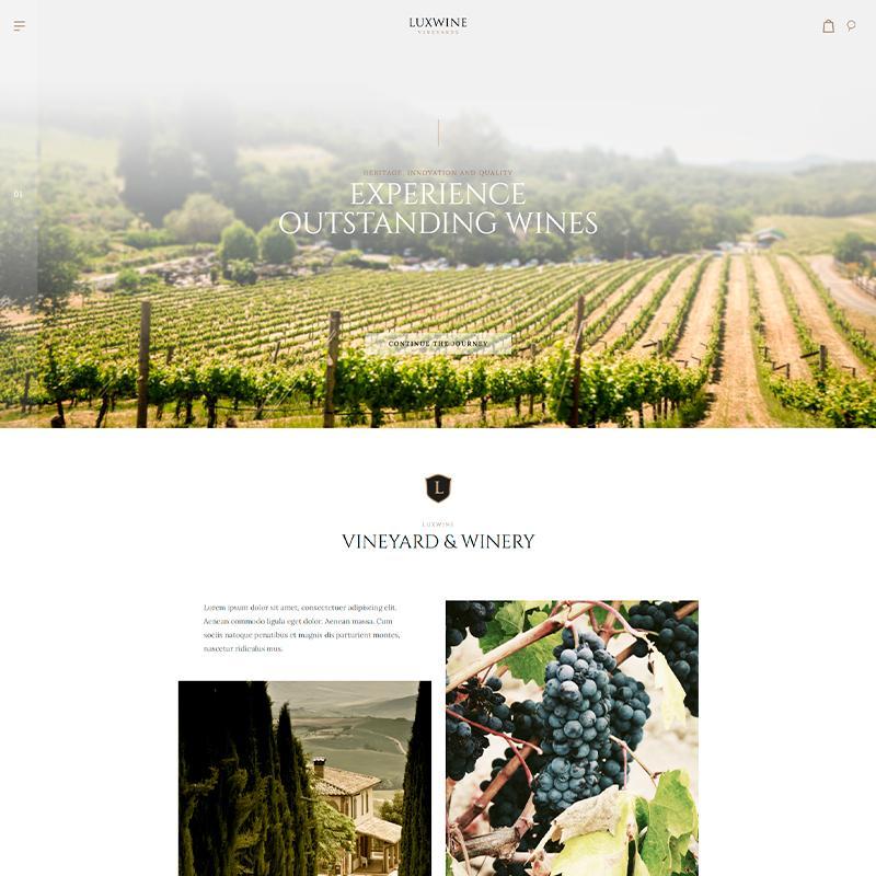 tema wordpress para viñedos y bodegas