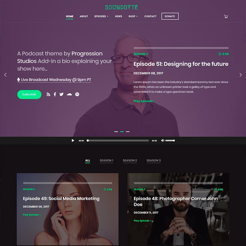 plantilla para publicad audios y vídeos SoundByte