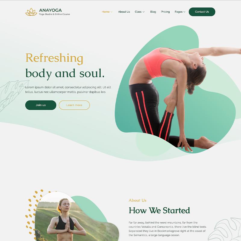 Tema Anayoga WordPress de Yoga