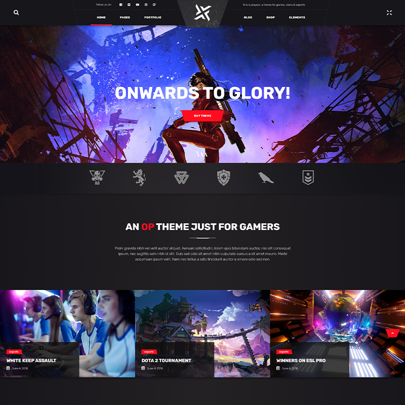 Gaming Tema WordPress - PlayerX