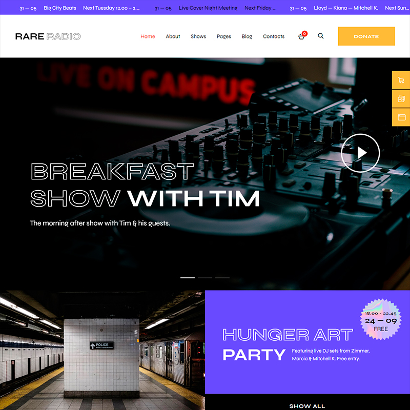 blogs de audios y vídeos tema WordPress RareRadio