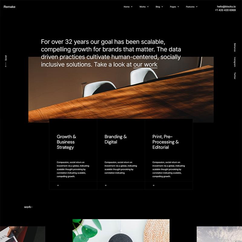 Plantilla WordPress Porfolios - Remake