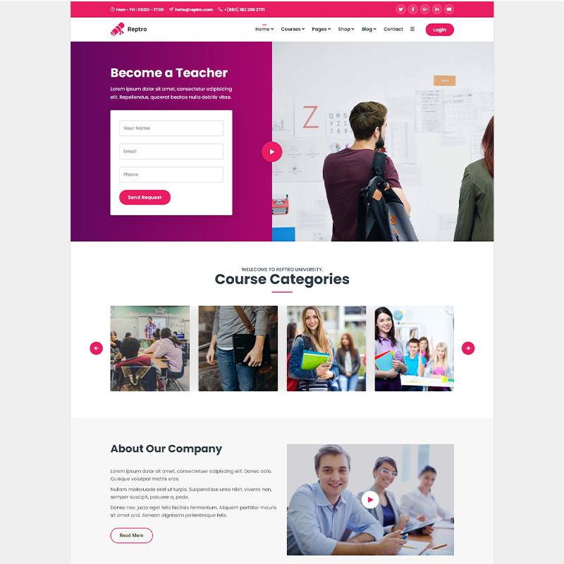 Reptro | LearnDash Theme WordPress