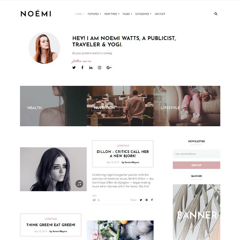 tema WordPress Noemi para copywriters y escritores
