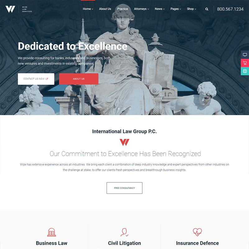 tema WordPress para abogados y asesores jurídicos