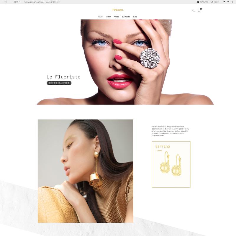 Tema WordPress para Catálogos de Joyas | Pinkmart