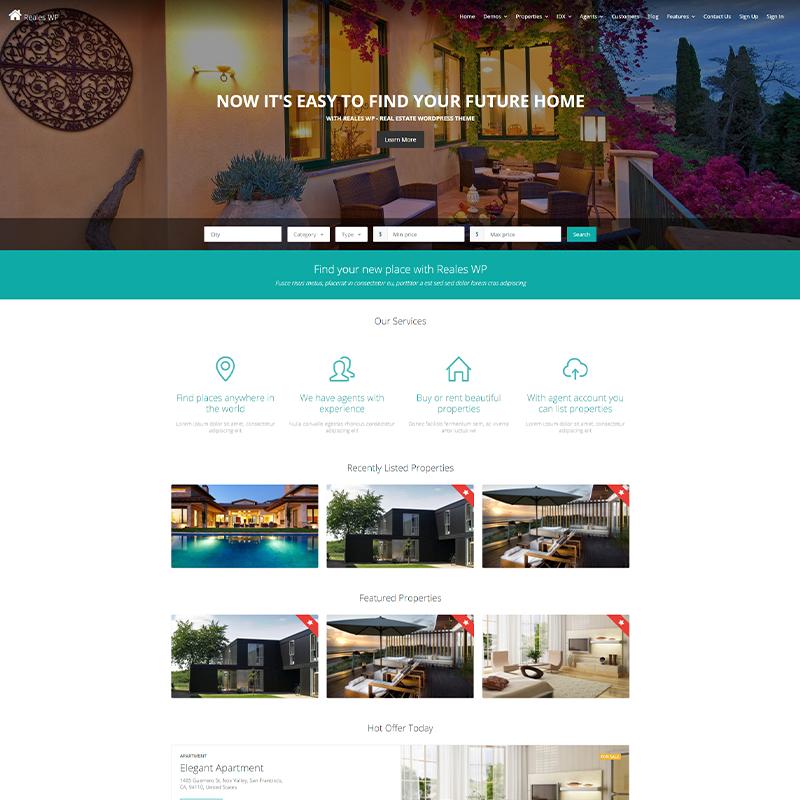 Plantilla WordPress Inmobiliarias - Reales WP