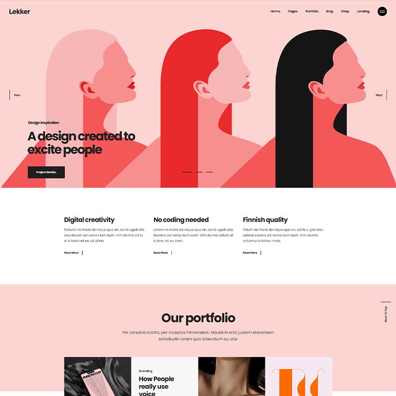 Lekker - Tema WordPress Porfolios