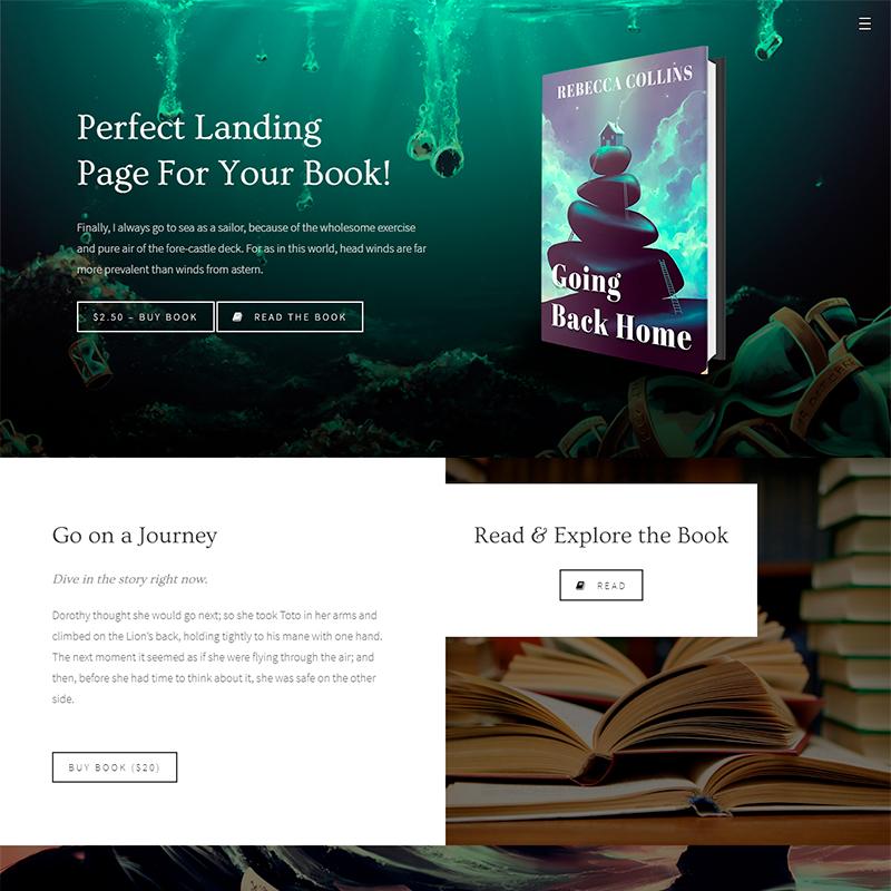Novela Tema WordPress para escritores y novelistas