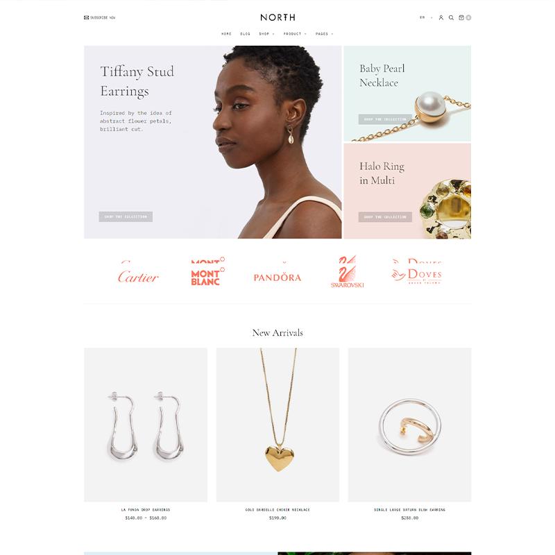 North | Tema WordPress Premium para Joyerías